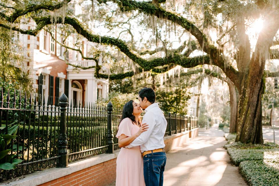Engagement Session in Downtown Savannah