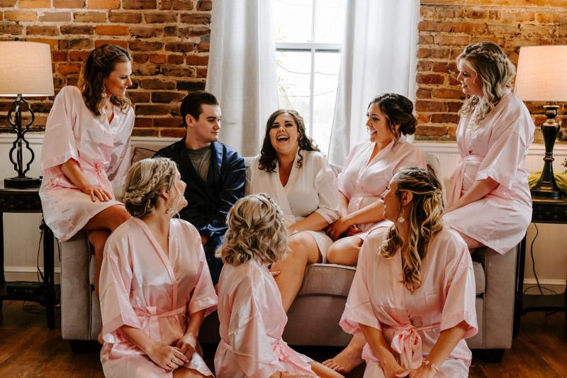 Bride & Bridesmaids in Robes